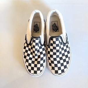 Vans Checkerboard Slip On Black & White Size 8.5